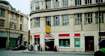 The Spar accross the road, often mentioned by Mark Radcliffe & Lard